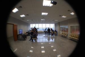 Sala do evento, enquanto arrumávamos as coisas...