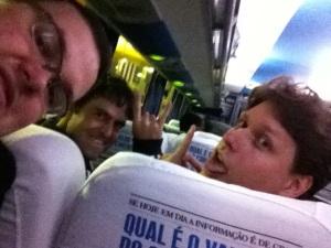 Eu, Eremita e Celso embarcando para Curitiba!