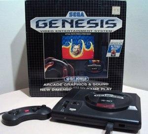 1ª caixa do SEGA Genesis