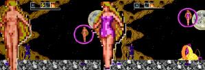 Kujaku Oh II (Japão) tinha uma peladona. Mystical Defender (EUA), não.