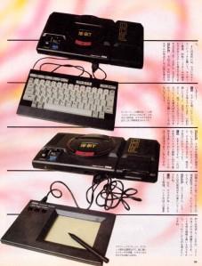 Teclado e tablet gráfica do Mega Drive